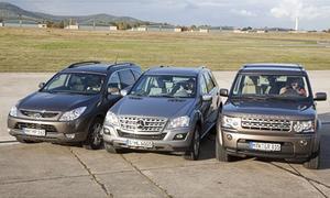 Diesel-SUV: Hyundai ix55, Mercedes ML 350 BlueTEC, Land Rover Discovery