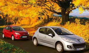 Im Vergleich: Spar-Diesel Ford Fiesta ECOnetic und Peugeot 207 99G