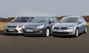 Kompaktklasse: Ford Focus, Opel Astra und VW Golf im Vergleich