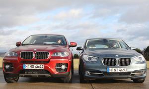 Im Vergleichstest: BMW 530d GT gegen BMW X6 xDrive 30d