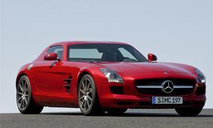 Schönstes Modell der Design Trophy 2010: Der Mercedes SLS AMG holt knapp 34 Prozent aller Stimmen