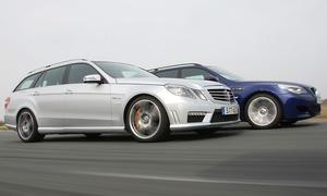 Premium-Power-Kombis im Vergleichstest: Mercedes E 63 AMG T gegen BMW M5 Touring