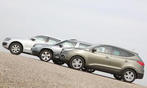 Kompakt-SUV: Der neue Hyundai ix35 gegen Audi Q5 und Skoda Yeti im Auto-Test