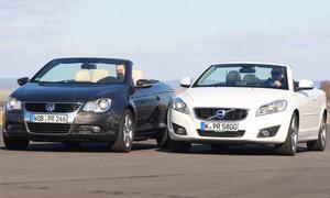 Klappdach-Cabrios im Vergleichstest: VW Eos 2.0 TDI gegen Volvo C70 2.0D mit Facelift