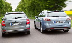 Skoda Superb Combi 1.8 TSI und Mazda 6 Kombi 2.0 DISI im Vergleichstest der AUTO ZEITUNG