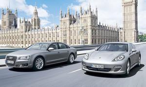 Luxusklasse: Audi A8 und Porsche Panamera im Vergleichstest