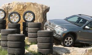 Acht Geländereifen der Größe 255/55 R18 im Test: Praxistest im BMW X5