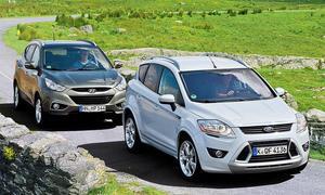 Ford Kuga und Hyundai ix35 Kompakte SUV im Test