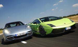 Lamborghini Gallardo und Porsche 911 Turbo S im Vergleichstest