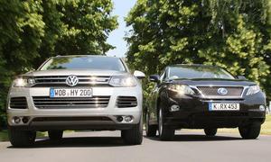 Vergleichstest Hybrid-SUV Der Lexus RX 450h trifft auf den neuen VW Touareg Hybrid