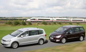 Van-Vergleichstest: VW Sharan 2.0 TDI DSG gegen Ford Galaxy 2.0 TDCi Powershift