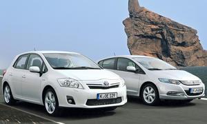 Toyota Auris Hybrid und Honda Insight im Vergleichstest der AUTOZEITUNG