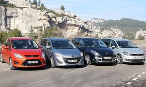 Ford C-MAX, Mazda 5, Renault Scénic, VW Touran: Vier Kompakt-Vans im Vergleichstest der AUTO ZEITUNG