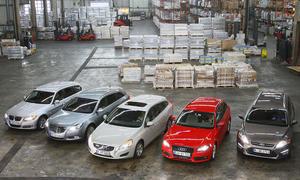 Fünf Mittelklasse-Kombis im Test der AUTO ZEITUNG: Audi A4 Avant, BMW 3er Touring, Ford Opel Insignia Spors Tourer und Volvo V60