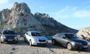 Drei Mittelklassen im Test der AUTO ZEITUNG - Ford Mondeo, Skoda Superb und Saab 9-5
