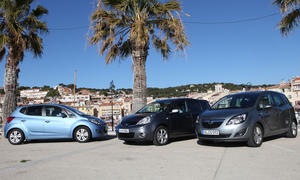 Opel Meriva, Nissan Note und Hyundai ix20 im Test
