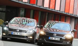 VW Passat oder VW Jetta? Auf den ersten Blick unterscheiden sich die VW-Limousinen kaum