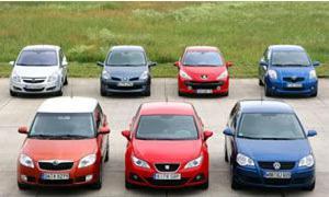 Sieben aktuelle Kleinwagen im Test der AUTO ZEITUNG 2008