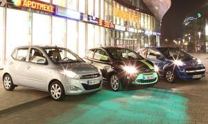Kleinwagen Test: Ford Ka, Hyundai i10, Peugeot 107