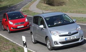 Mini-Vans im Test: Kia Venga und Toyota Verso-S