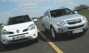 Opel Antara und Renault Koleos Allrad im SUV-Vergleich der AUTO ZEITUNG
