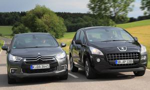 Citroën DS4 HDi 110 und Peugeot 3008 HDi FAP 110 im Vergleichstest