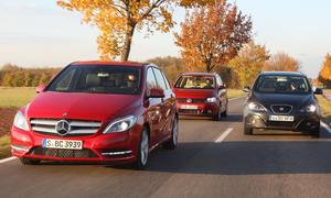 Mercedes B-Klasse, Seat Altea XL und VW Golf Plus im Vergleichstest der AUTO ZEITUNG