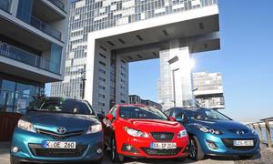 Toyota Yaris gegen Seat Ibiza und Mazda 2 im Vergleichstest