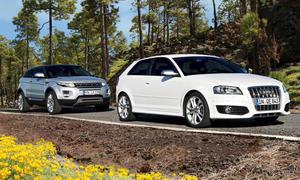 Allrad-Coupé Vergleich Audi S3 und Range Rover Evoque