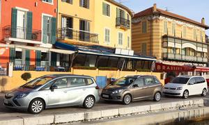 Kompakt-Van Vergleich Opel Zafira, Ford Grand C-MAX und VW Touran