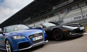Audi TT RS plus Roadster und Corvette Grand Sport Cabrio im Vergleich