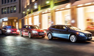 Drei Kompaktwagen im Vergleich: Neuer Volvo V40 gegen Audi A3 und BMW 1er