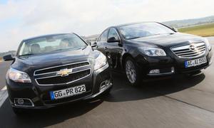 Mittelklasse-Limousinen im Test 2012: Chevrolet Malibu gegen Opel Insignia