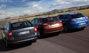 Vergleichstest Kompaktklasse-Kombis 2012 Hyundai i30 cw Renault Megane Grandtour Skoda Octavia Combi
