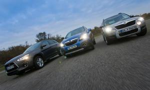 Kompakt-SUV Vergleichstest Opel Mokka 1.7 CDTI ecoFLEX 4x4 Mitsubishi ASX 1.8 DI-D 4WD Skoda Yeti 2.0 TDI 4x4