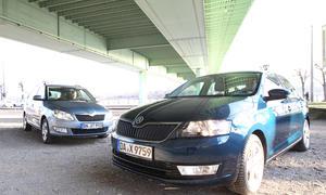 Vergleichstest Skoda Fabia Combi 1.2 TSI Rapid 1.2 TSI Kleinwagen Kombi Kompaktklasse Vergleich
