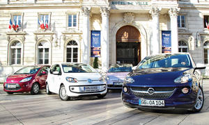 Kleinstwagen-Vergleich 2013: Opel Adam, VW Up!, Fiat 500, Ford Ka