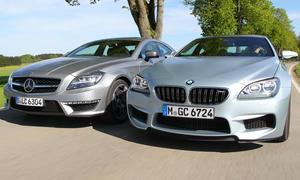 Luxus-Sportcoupés im Test: Neues BMW M6 Gran Coupé im Vergleichstest gegen Mercedes CLS 63 AMG
