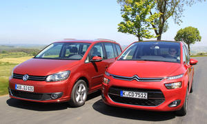 Kompakt-Van-Test 2013: Neuer Citroën C4 Picasso, VW Touran