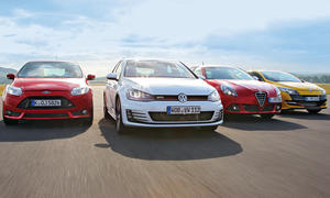 Kompaktsportler-Test 2013: VW Golf GTI, Ford Focus ST, Renault Mégane R.S., Alfa Romeo Giulietta