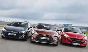 Sportcoupé-Test 2013: Hyundai Veloster, Peugeot RCZ, Toyota GT86