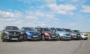 Sechs Mini-SUV im Test 2013: Mini One Countryman, Mitsubishi ASX, Opel Mokka, Peugeot 2008, Renault Captur, Skoda Yeti
