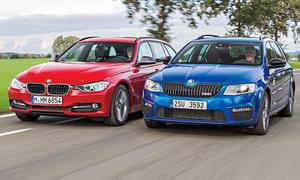 BMW 320d Touring vs. Skoda Octavia RS Combi 2.0 TDI: Vergleich