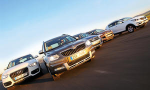 Skoda Yeti, Audi Q3, VW Tiguan, Ford Kuga, Kia Sportage: Kompakt-SUV-Vergleichstest