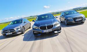 Mercedes A-Klasse/BMW 1er/Audi A3: Vergleichstest