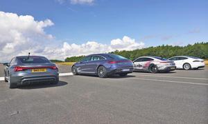 Audi e-tron GT/Mercedes EQS 450+/Porsche Taycan 4S/Tesla Model S