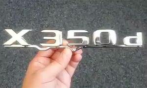 Mercedes-X350d-Schriftzug