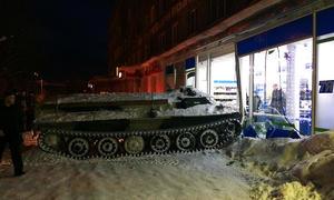 Panzer im Schaufenster