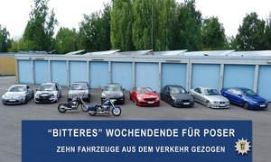 Polizei stoppt zu laute Autos