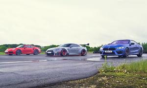 Porsche 911 Turbo S/BMW M8 Competition/Nissan GT-R von Liberty Walk